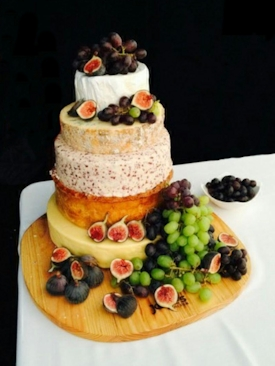 Cheese Wedding Cake With Pork Pie Layer