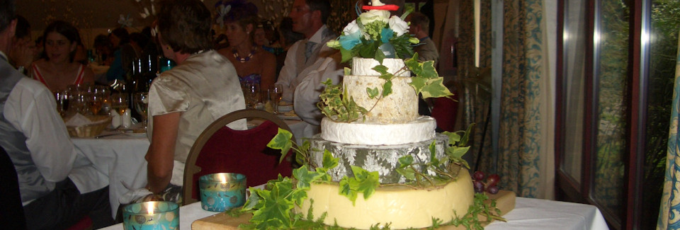 Cheese Wedding Cake from R P Davidson, The Cheese Factor