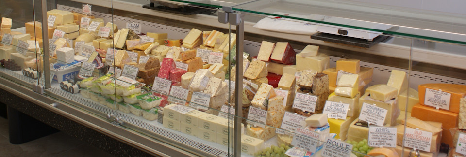 One cheese counter at R P Davidson, The Cheese Factor