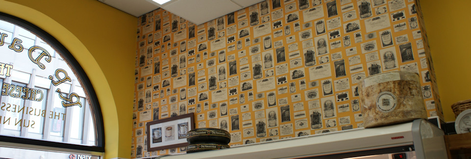 Interior wall at R P Davidson, The Cheese Factor