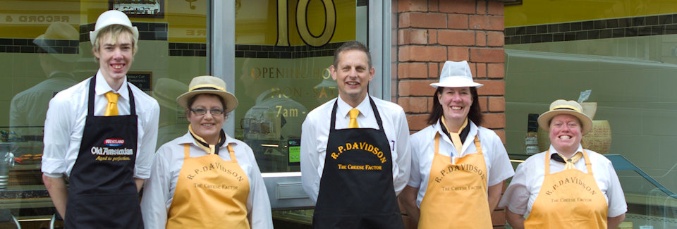 Some of the staff of R P Davidson, The Cheese Factor