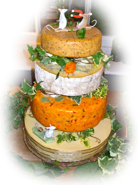 Cheese Wedding Cake Examples 12