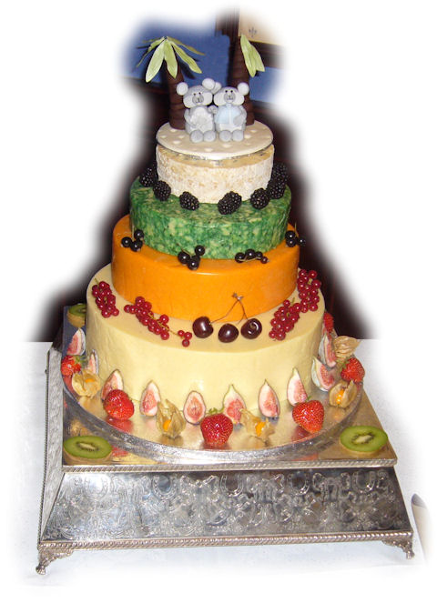 Cheese Wedding Cake Examples 7