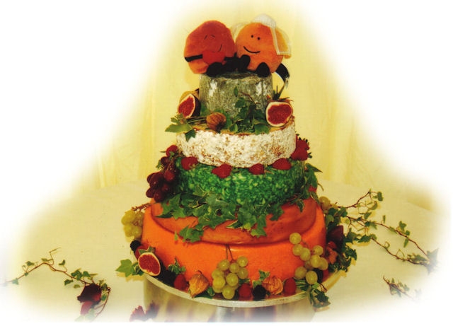 Cheese Wedding Cake Examples 9